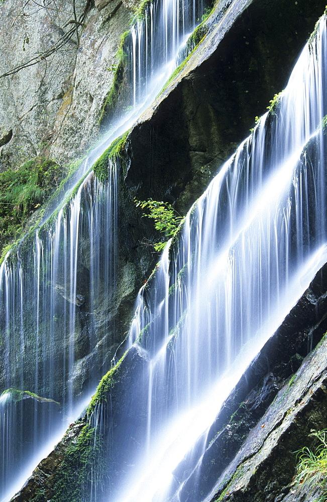 Water cascades in the canyon Wimbachklamm, Berchtesgaden, Upper Bavaria, Bavaria, Germany - 1113-103544