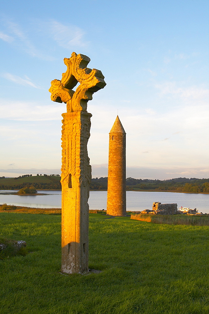 outdoor photo, Devenish Island, Lower Lough Erne, Shannon & Erne Waterway, County Fermanagh, Northern Ireland, Europe