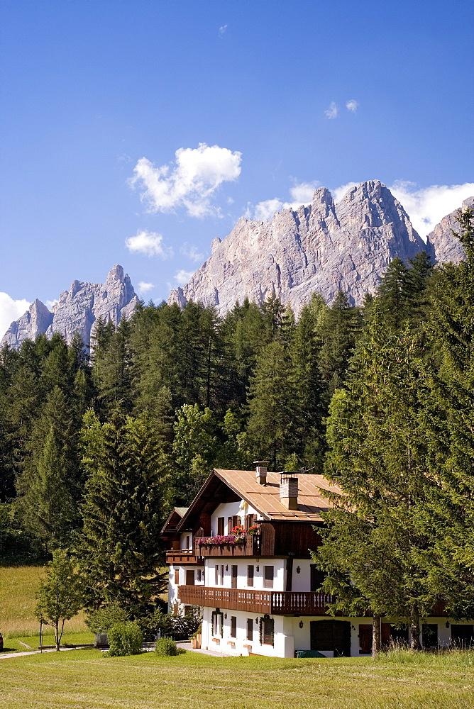 House near Cortina d´Ampezzo, Dolomites, Veneto, Italy