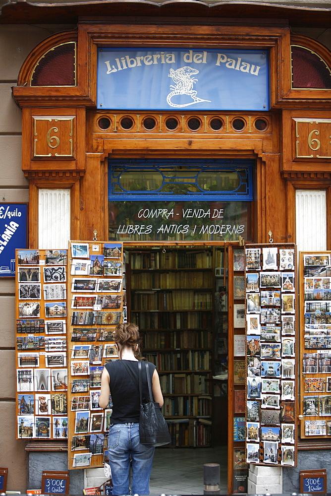 Bookstore, Barrio Gotic, Barcelona, Catalonia, Spain