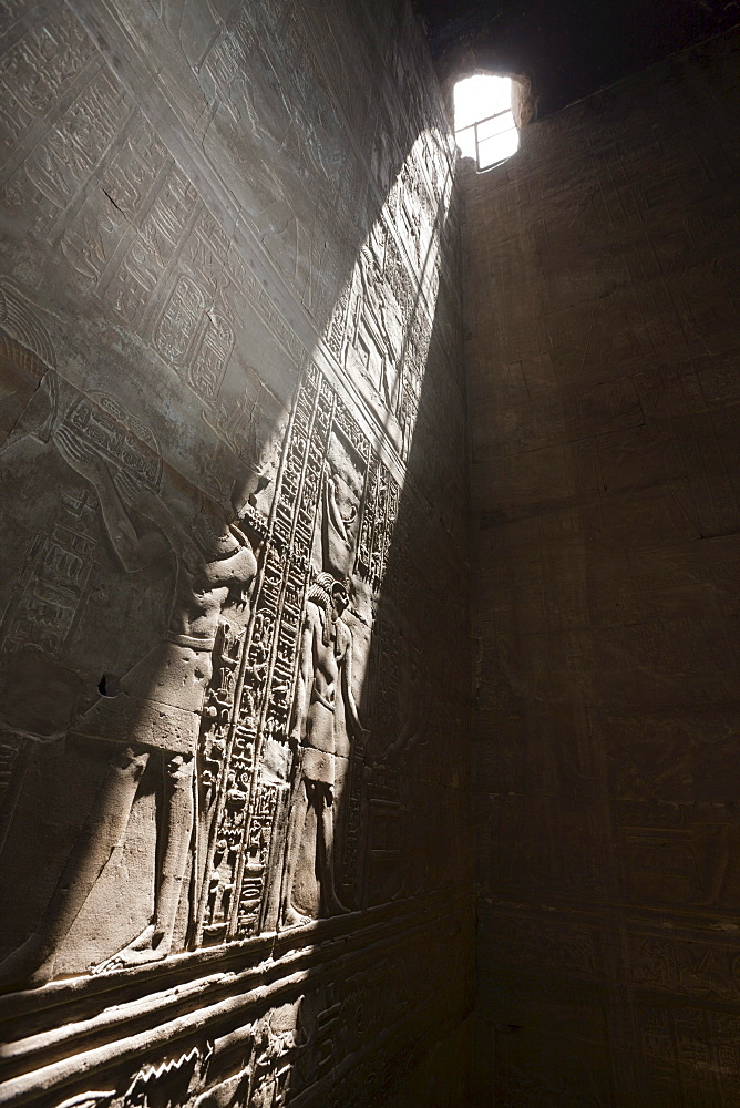 Wand Reliefs in Temple of Horus at Edfu, Edfu, Egypt