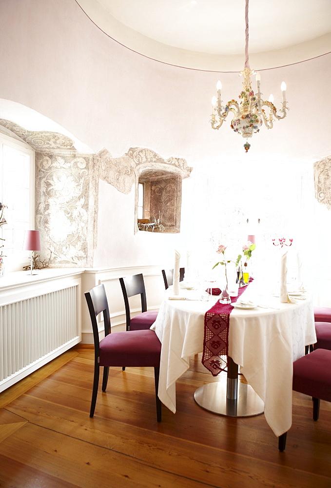 Restaurant Neuweier castle, Baden-Baden, Black Forest, Baden-Wuerttemberg, Germany