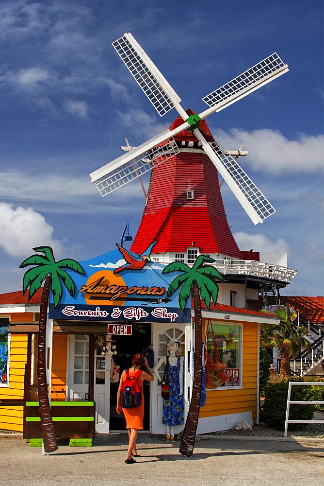 West Indies, Aruba, The Mill, dutch wind mill, De Olde Molen, Souvenir shop