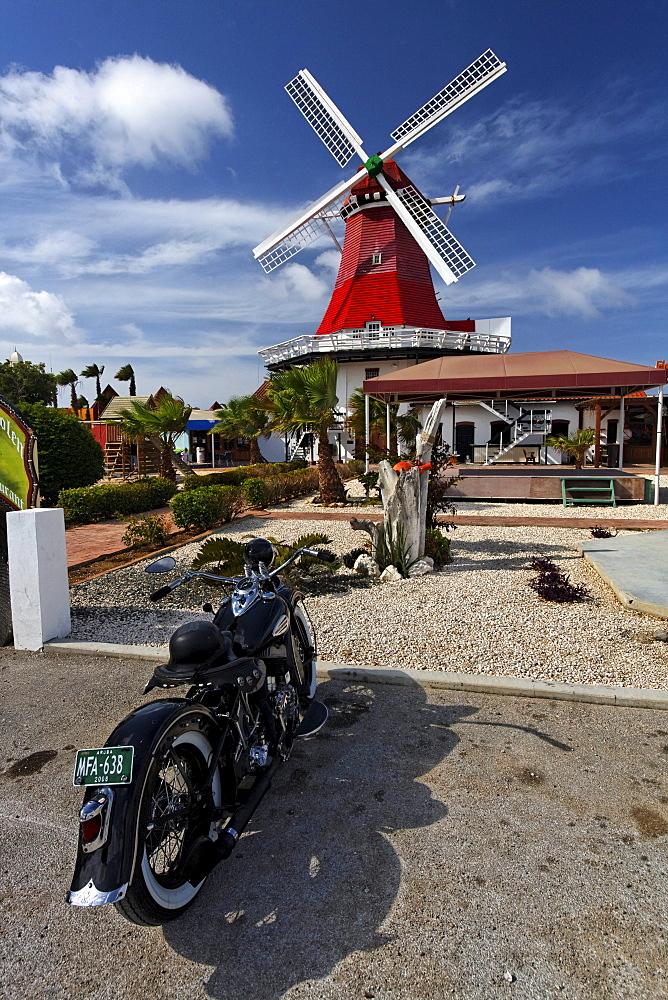 West Indies, Aruba, The Mill, dutch wind mill, De Olde Molen, Motocycle