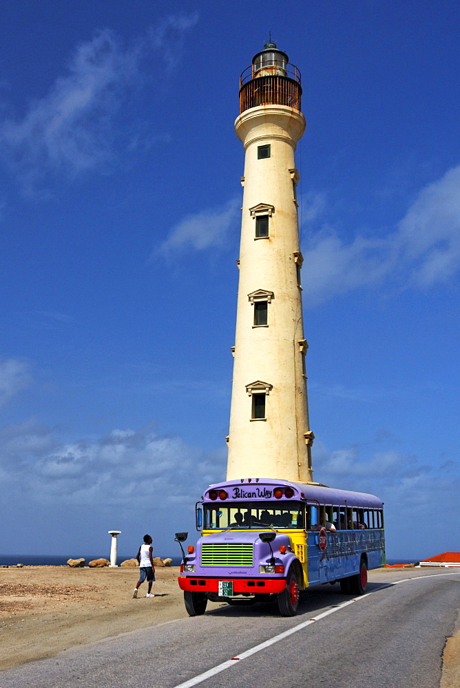 West Indies, Bonaire, West Indies, Aruba, California lighthouse, Party Cruiser Bus