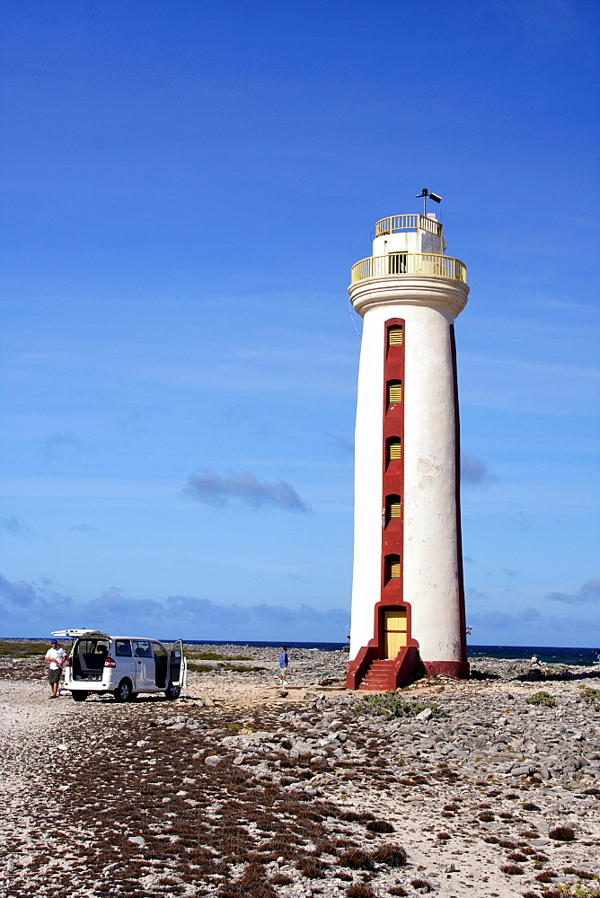 West Indies, Bonaire, Willemstoren lighthouse in south Bonaire