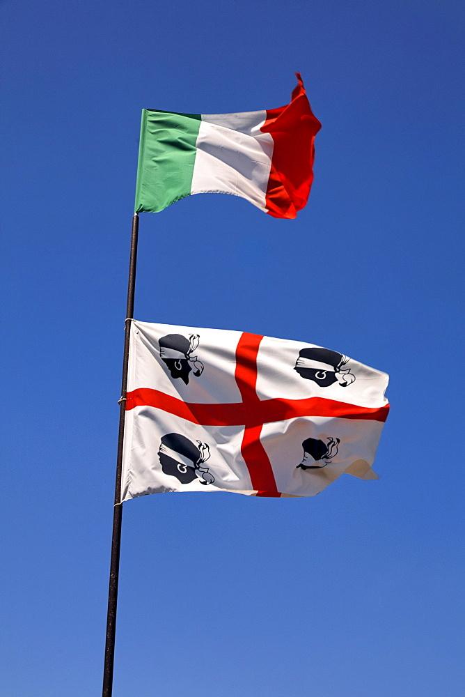 Italian and Sardinian flag