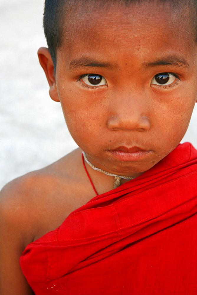 Buddhistic novice, Hispaw, Shan State, Myanmar, Burma, Asia