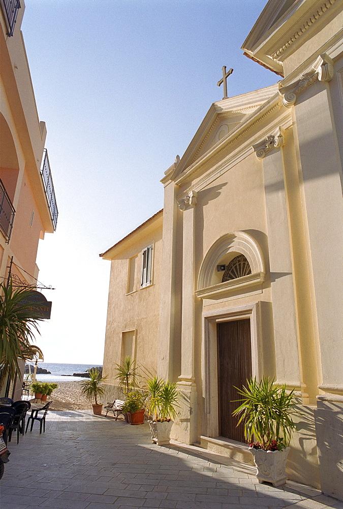Church, Santa Maria di Castellabate, Castellabate, Cilento, Italy