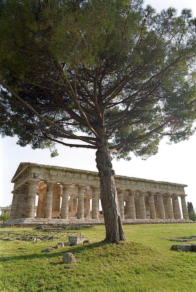 Temple of Hera, Archeological excavation in Paestum, Castellabate, Cilento, Italy
