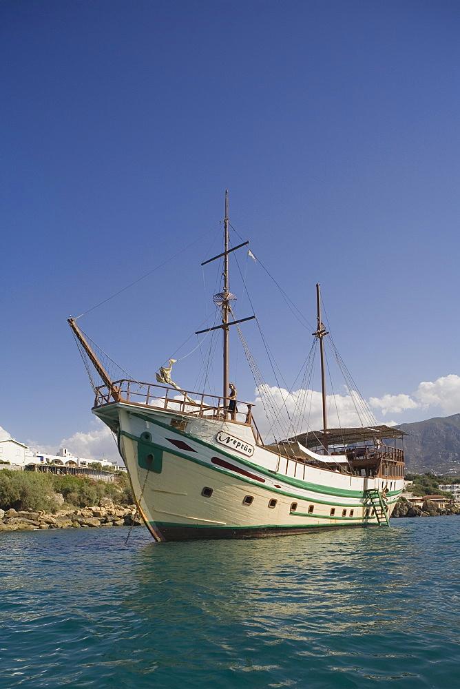 Neptun Pirate boat trip, by Kaleidoskop Turizm, and coast, Kyrenia, Girne, Cyprus