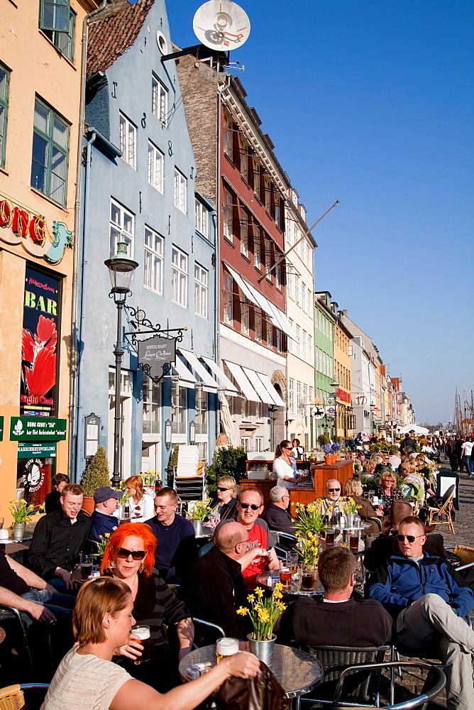 Young people in the Bistro Norden on Amagertorv shopping street, Copenhagen, Denmark
