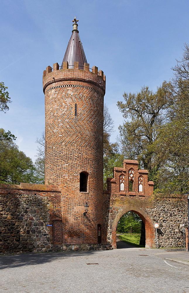 Fangelturm in Neubrandenburg, Mecklenburg Lake district, Mecklenburg-Western Pomerania, Germany