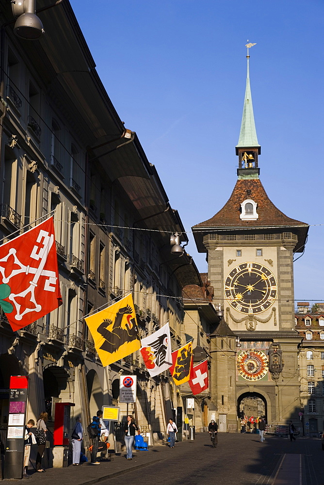 Zytglogge Tower, Kramgasse, Old City of Berne, Berne, Switzerland