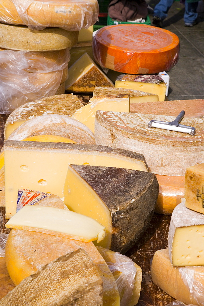 Close upof cheese at a market, Bundesplatz, Old City of Berne, Berne, Switzerland