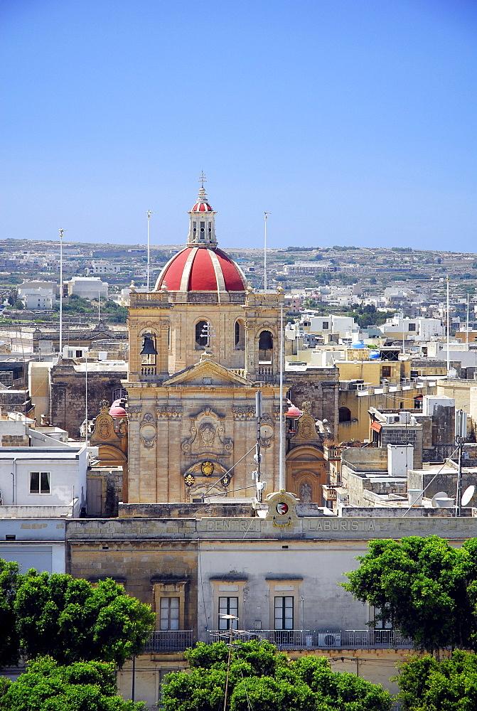 St. George Church in Victoria, Rabat, Gozo Island, Malta, Mediterranean, Europe