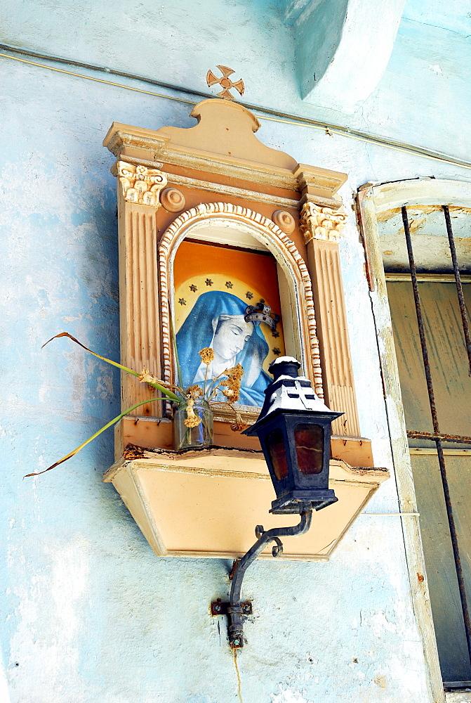 Altar with a Maria image in Victoria, Rabat, Gozo Island, Malta, Mediterranean, Europe