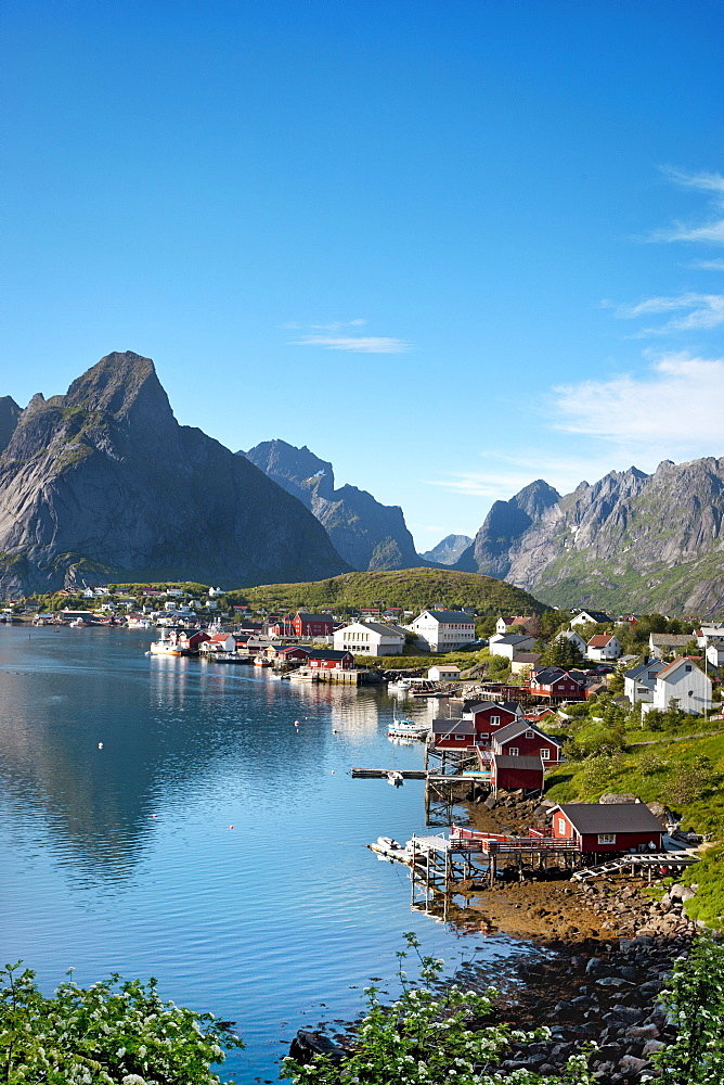 Reine village, Moskenesoya, Lofoten Islands, North Norway, Norway
