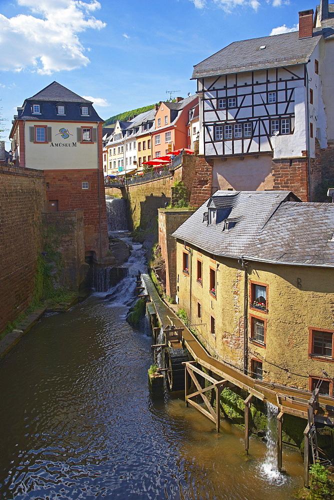 Saarburg, Amueseum, Hackenberger Mill, Waterfall (20m), Leukbach, Rhineland-Palatinate, Germany, Europe