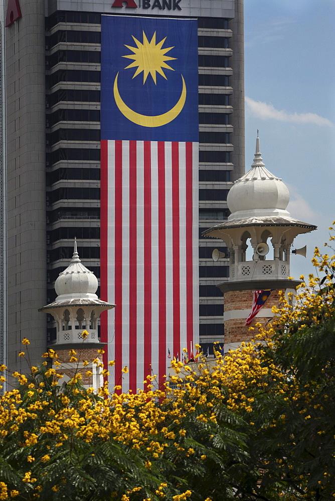 Mosque Masjid Jamek in Kuala Lumpur, Kuala Lumpur, Malaysia, Asia