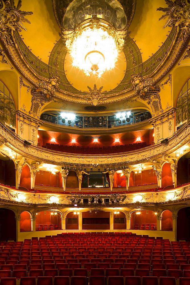 Deserted Theatre Berliner Ensemble, Theatre at Schiffbauerdamm, established by Bertolt Brecht, Berlin, Germany, Europe