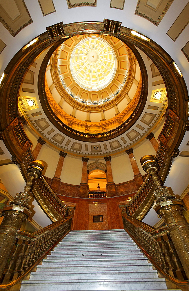 Staircase, Capitol, architect Elijah E. Myers, 200 East Colfax Avenue, Denver, Colorado, USA, North