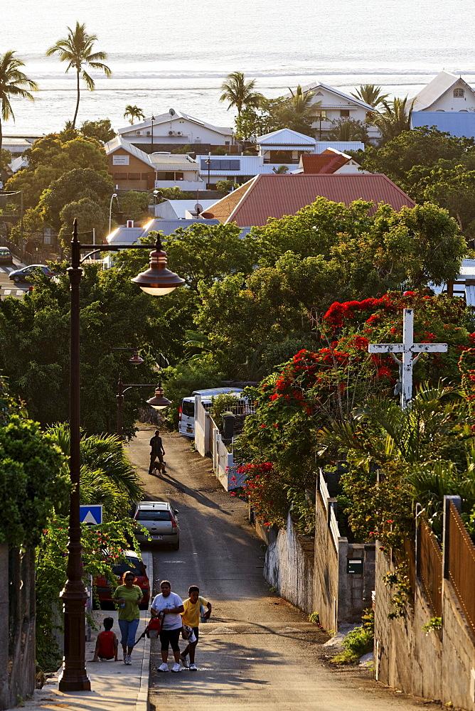 Alley in the village of Saint Leu, La Reunion, Indian Ocean