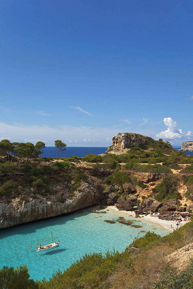 Calo d es Moro, nearby Cala S Amonia, near Santanyi, Mallorca, Balearic Islands, Spain, Europe