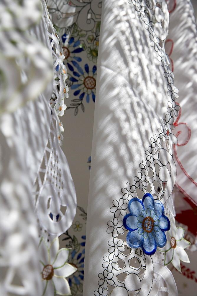 Lace Detail at Sineu Wednesday Market, Sineu, Mallorca, Balearic Islands, Spain
