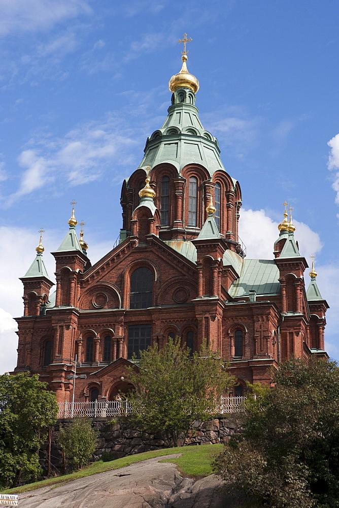 Uspenski Cathedral, architect Alexey Gornostaev, Helsinki, Southern Finland, Finland