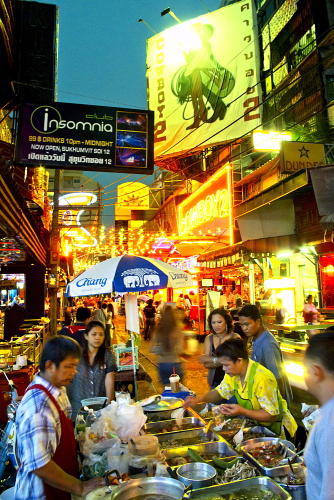 Bar in the street, Soi Cowboy, red light district, Bangkok, Thailand