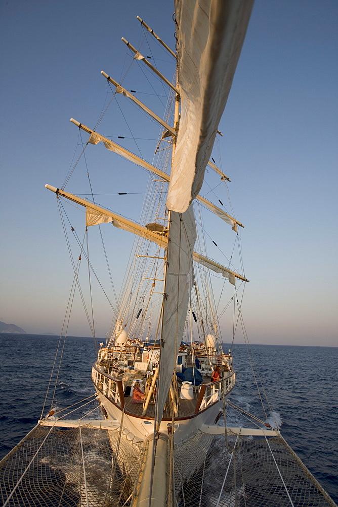 Star Flyer, View from Bowsprit, Aegean Sea, Turkey