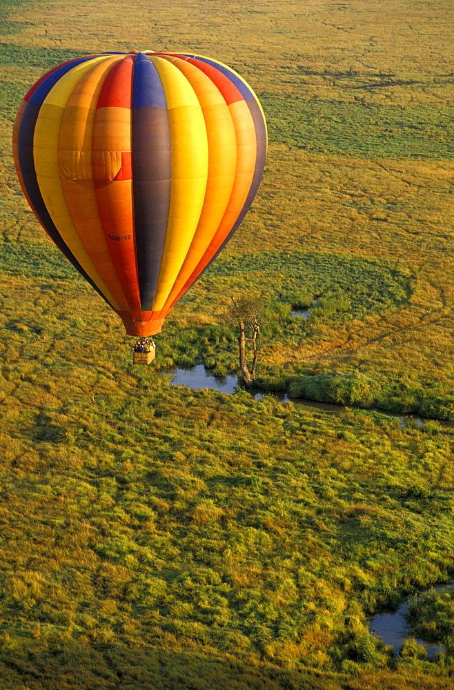 Hot-air ballon ride, Masai Mara National Park, Kenia, Africa