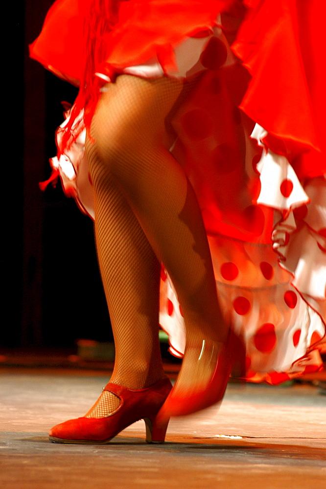 Flamenco dancer, World Flamenco Fair, Seville, Andalusia, Spain - 1113-52861