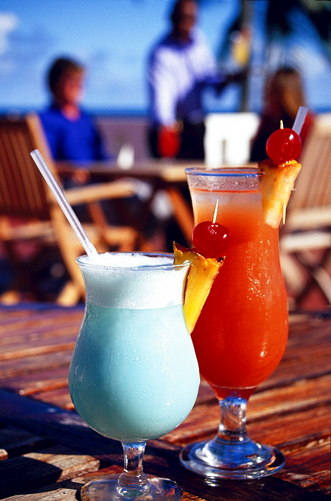Exotic drinks, Blue Haven Hotel Scarborough, Trinidad und Tobago, Caribbean
