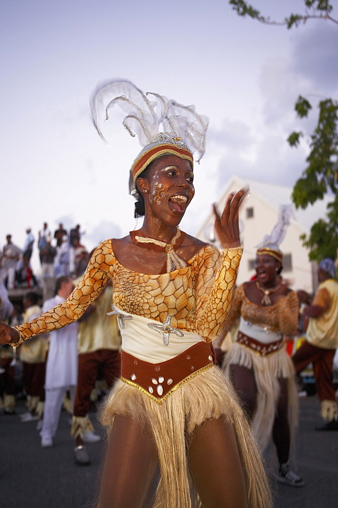 Women dancing at the Carnival, Le Moule, Grande-Terre, Guadeloupe