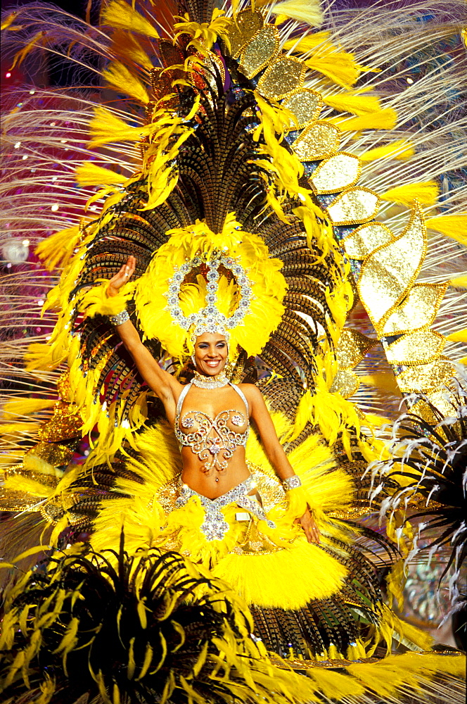 Gala for the election of the carnival's queen, Carnival, Gran Canaria, Canary Islands, Spain