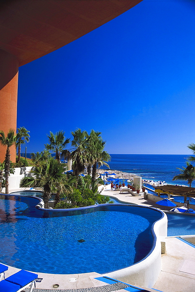 Pool of the Westin Regina hotel in the sunlight, Cabo San Lucas, Baja California Sur, Mexico, America