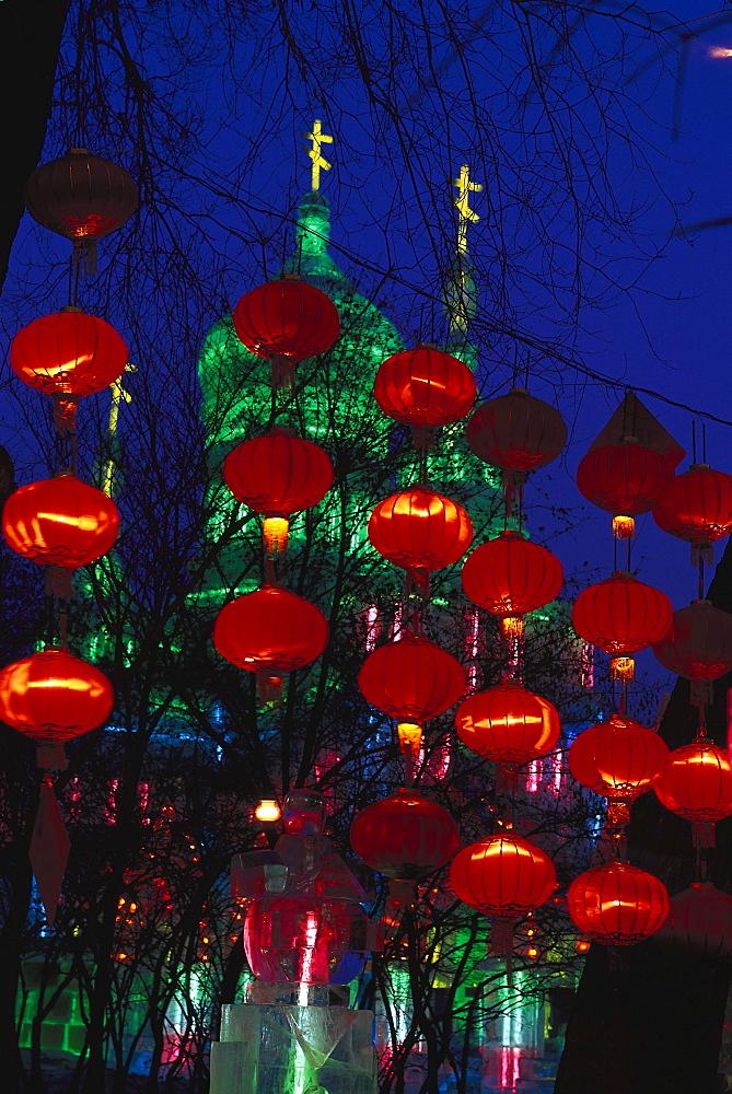 Ice sculpture-festival, Ice Lantern Show, Harbin, China - 1113-60833