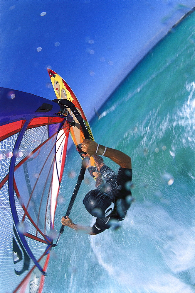 Windsurfing, Fuerteventura, Canary Islands, Spain