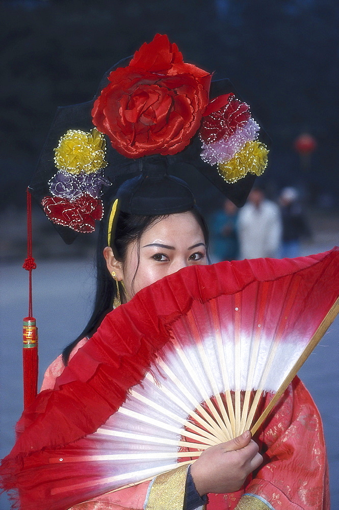 Chinese woman in traditional clothes, Peking, China, Asia - 1113-62605