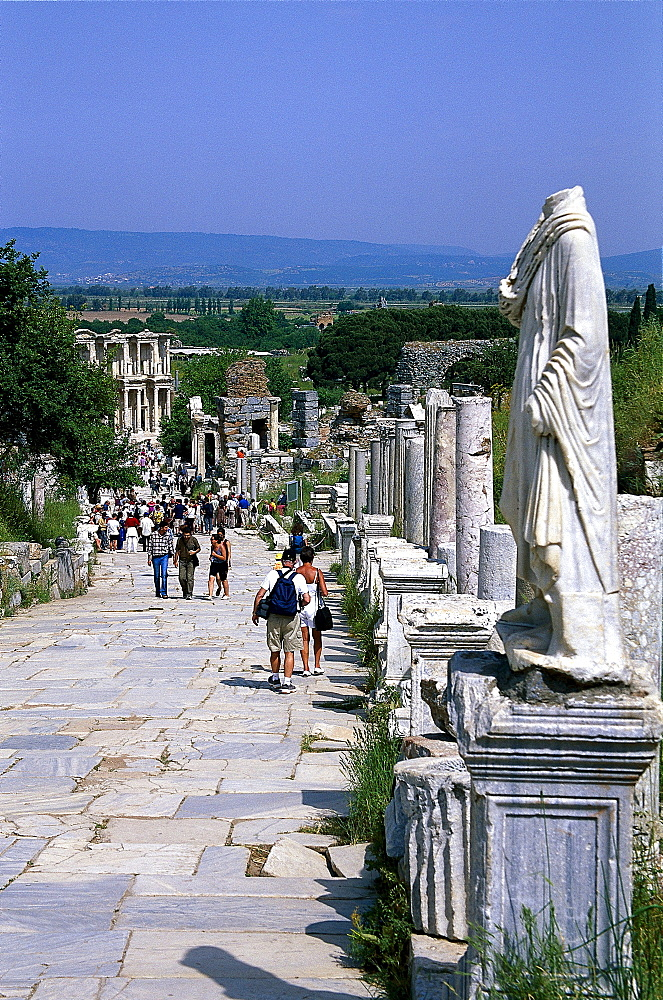 Road in the Ancient city of Ephesus, Turkish Aegean, Turkey