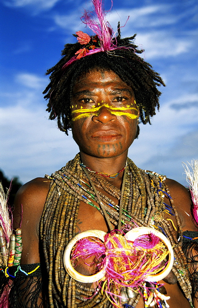Portrait of a native man, Rabaul, Melanesia, Papua, New Guinea