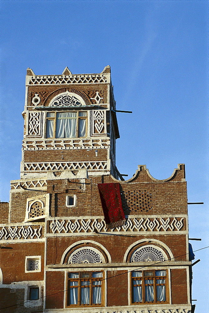 Detail of a facade, Sana, Yemen