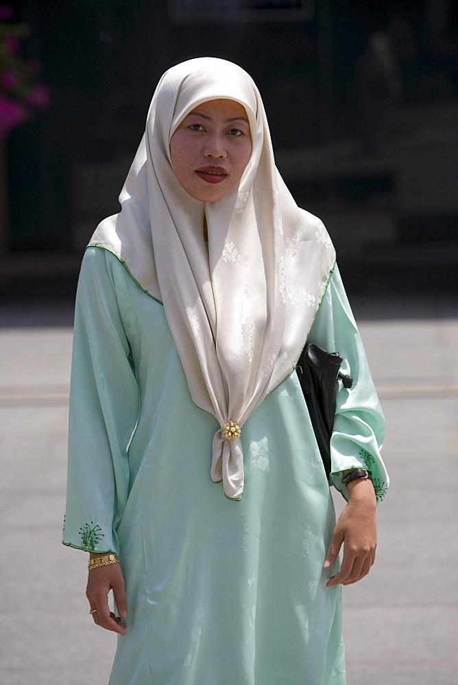 Muslim Woman, Bandar Seri Begawan, Brunei Darussalam, Asia