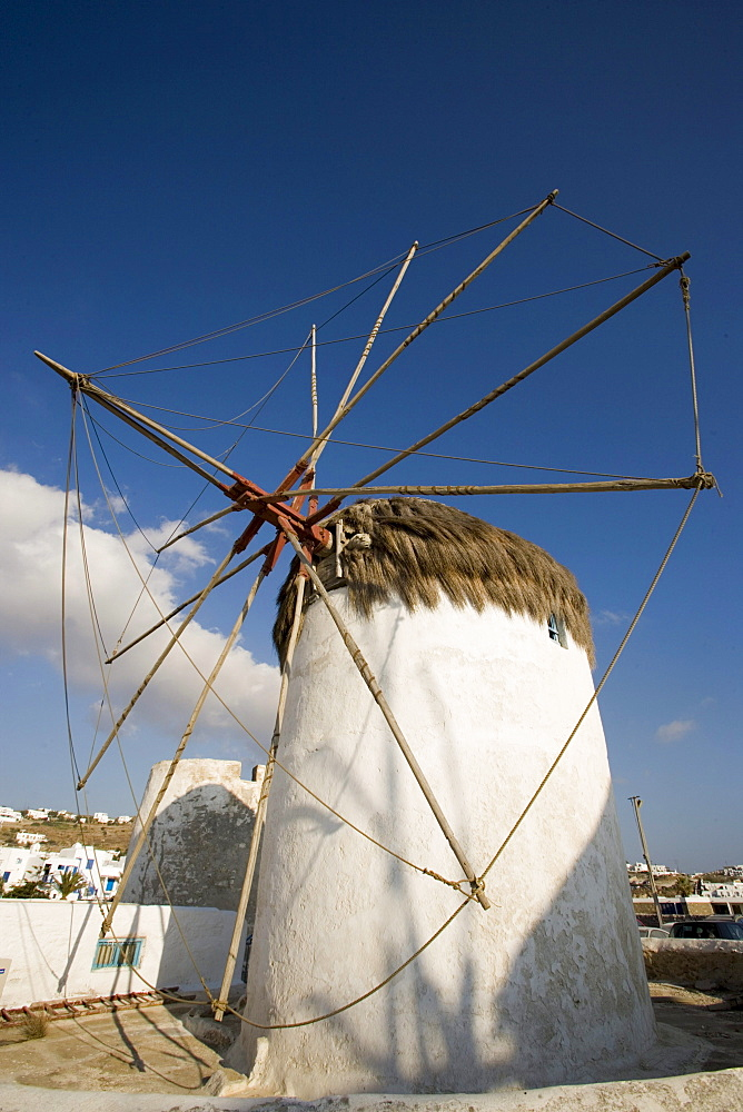 Famous traditional windmill, Mykonos-Town, Mykonos, Greece