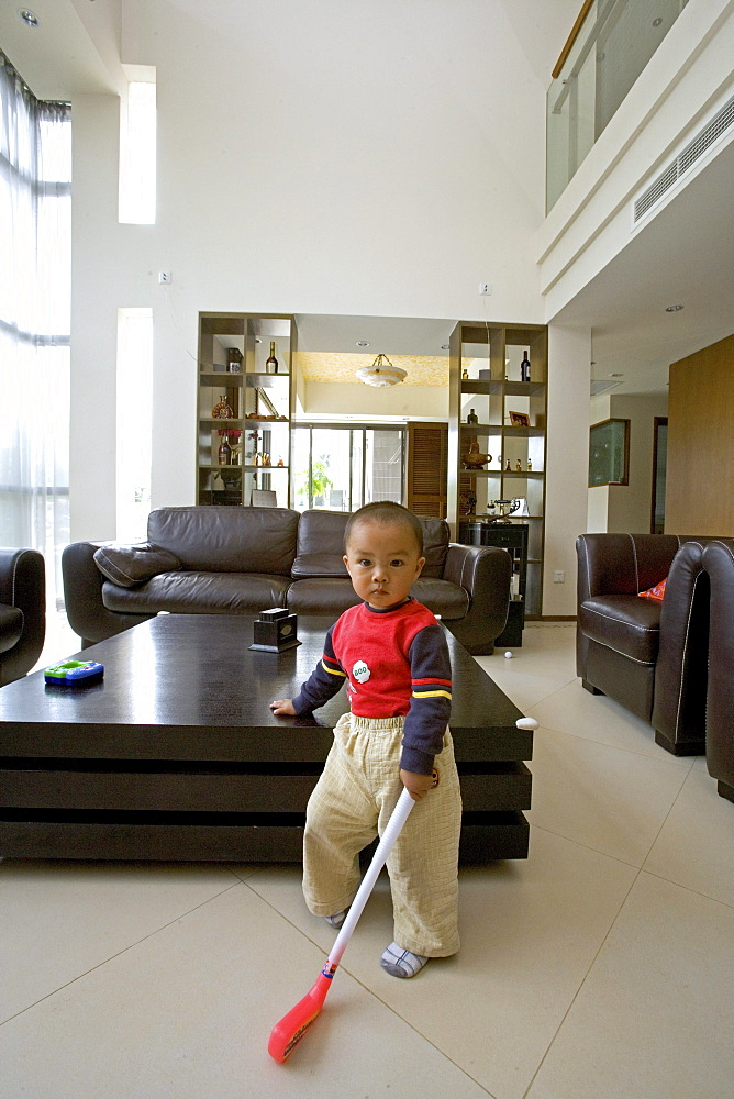 modern villa, living, young boy in living room, luxury apartment, western Shanghai, interieur, private house, interior