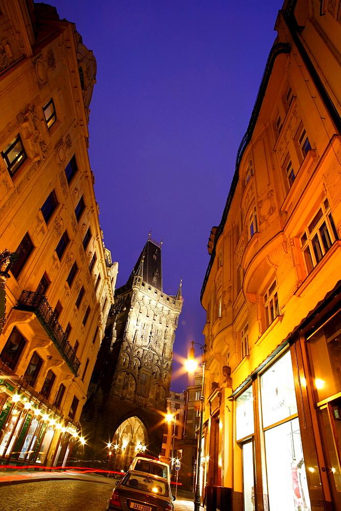 View of Powder Gate, Stare Mesto, Old Town, Prague, Czech Republic