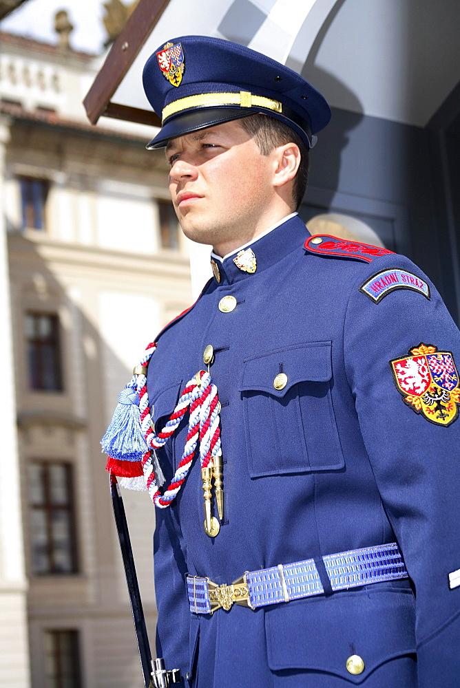 Prague Castle Guard, Hradcany, Prague, Czech Republic