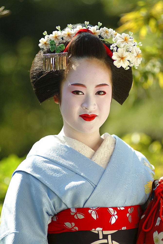 Portrait of a Geisha in Training, Maiko Masayo, Kyoto, Japan